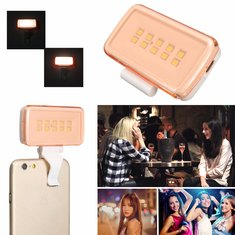 Rechargeable 10 LED White Selfie Fill LED Light Flash Ring For Phone Camera