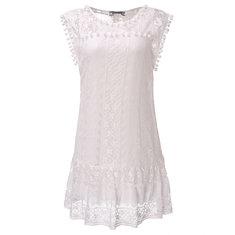 Women Sleeveless Crochet Mini Sexy Dress