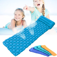 Outdoor Single Inflatable Air Mattresses Ultralight Portable Camping Sleeping Tent Mat Pad With Pillow