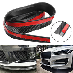 2.5M Carbon Fiber Color Car Front Bumper Spoiler Lip Splitter Protector Auto Trim Sticker Universal