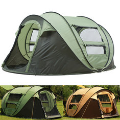 Outdoor 3-4 Persons Camping Tent Automatic Opening Waterproof Windproof Beach Sunshade Canopy