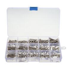 Suleve™ MXSS2 M2/M2.5/M3 Stainless Hex Socket Cap Head Screws Allen bolt Nut Assortment Kit 300pcs