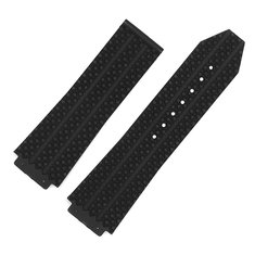 Replacement Authentic 26mm Black Rubber Silicone Watch Band for Hublot Big Bang Strap