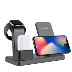 Bakeey 10W Qi Wireless Charger For Iphone X 7 8 3 IN 1 Fast Charger Quick Charge For Apple Watch