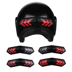 12V Wireless Motorcycle Helmet LED Brake Turn Signal Light Indicators