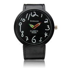 Fashion Style PU Leather Band Pencil Analog Wrist Watch