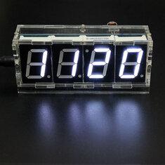 Geekcreit DIY 4 Digit LED Electronic Clock Kit Temperature Light Control Version