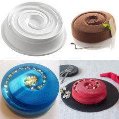 Silicone Round Vortex Spiral Mold Cake Decorating Pans Baking And Freezing Mould