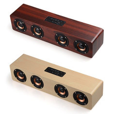 Multifunctional 14W Wood Sound Grain Speaker Wireless bluetooth TF Card AUX FM
