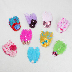 Baby Bow Peacock Feather Flower Headbrands Wear Accessory