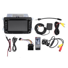 7'' 2DIN Car DVD Player Stereo Radio GPS SAT Camera For VW Passat Jetta
