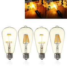 E27 ST64 8W Clear Cover Dimmable Edison Retro Vintage Filament COB LED Bulb Light Lamp AC110/220V
