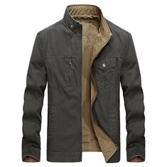 Reversible Double Sided Wearable Cotton Men Outdoor Jacket