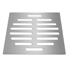 6 Inch Silver Drain Protector Tone Square Shape Stainless Steel Floor Drain Cover Home Bathroom Supplies