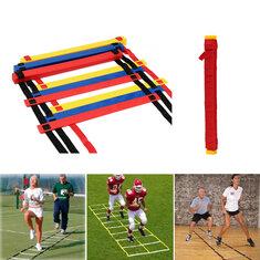 12 Rung Speed Agility Ladder Soccer Sport Ladder Training Carry Bag