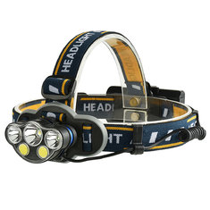XANES 2606-5 1300LM T6+2*XPE+2*COB 8 Modes Camping Bicycle Headlamp Need 2*18650 Battery USB Rechargeable