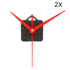 2Pcs DIY Red Triangle Hands Quartz Wall Clock Movement Mechanism