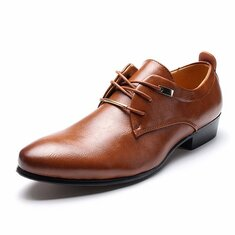 Large Size Men Business Dress Shoes Pointed Leather Oxfords