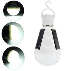 E27 7W LED Solar Charging Emergency Globe Lighting Lamp Bulb for Camping AC85-265V