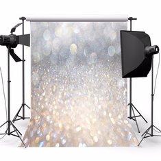 5X7FT Vinyl Christmas Glitter Photography Backdrop Photo Background Studio Prop