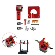 Upgraded Aluminum Dual Gear Pulley Dual Drive Extruder Kit For Creality CR-10 / CR-10S / CR-10S Pro / Ender-3 / Ender-3 Pro 3D Printer