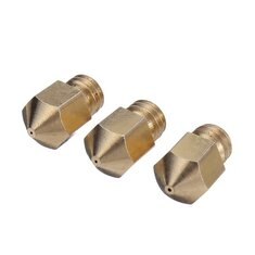 0.2mm 0.3mm 0.35mm 0.4mm 0.5mm 3D Printer Extruder Brass Nozzle Sprinkler Head