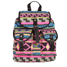 Retro Women Casual Print Canvas Backpack Floral Rucksack Satchel