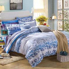 3 Or 4pcs Pure Cotton Flower Reactive Print Bedding Sets With Duvet Cover