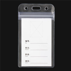 10pcs Vertical Transparent Plastic Clear ID Name Card Badge Holder