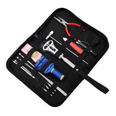 New 17pcs Horologe Watch Link Pin Remover Case opener Repair Tool Set Kit