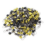 200pcs Medium Yellow Space Beans Fishing Pin Swivels Ring Fishing Accessory