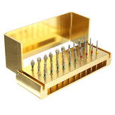 30pcs Diamond Polishing Grinding Heads Diamond Disinfection Burrs High Speed Handpieces
