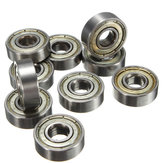 10Pcs Skateboard Groove Roller Blade Ball Bearings Wheels Silver
