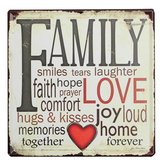 Family Love Tin Sign Vintage Metal Plaque Poster Bar Pub Home Wall Decor