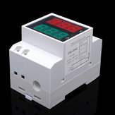 AC 80-300V Din Rail AC LED Dual Display Volt Meter Ampèremeter Voltage Ampere Meter