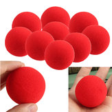 10PCS Close Up Magic Street Trick Soft Sponge Ball Props Clown Nose