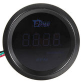 52mm Car Auto Tacho Tachometer Gauge Blue Digital LED Meter RPM