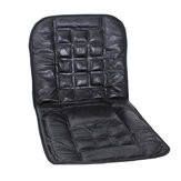 Leather Back Support Front Seat Cover Cushion Chair Massage For Auto