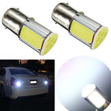 2 x 1156 G18 Ba15s 4 COB Car LED Turn Signal Rear Light Bulbs