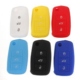 Silicone Remote Key Case Shell Flip FOB Voor VW Golf Mk6 Jetta Polo