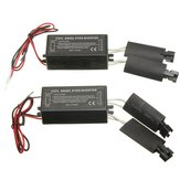 2X Sort 12V Spare CCFL Angel Eyes Inverter til BMW E36 E46 E53 E83