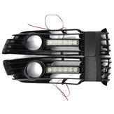 Front de pare-chocs automobiles lumière de brouillard calandre avec LED drl pour 01-05 passat vw
