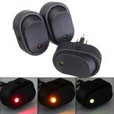 12v 30a LED crogiolo di automobile luce sensore a bilanciere SPST ginocchiera 12 millimetri