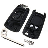 2 Button Remote Flip Key Fob Case Uncut Blade for Vauxhall Opel