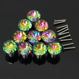 10 Pcs Knobs Handle Glass Cupboard Wardrobe Cabinet Door Drawer Grip 30mm