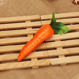 5Pcs Fake Fruit Red Artificial Carrot Kitchen Cabinet Decor Learning Photography Props