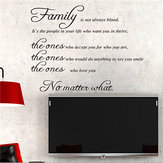 Familie Quote Wall Sticker Avtagbar Dekal Mural DIY Living Room Art Home Decor