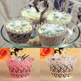 12Pcs Filigree Snowflake Baking Cup Cake Cup Cake Wrappers Cup Cake Decoration