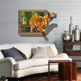 3D Removable Tiger Wall Decal Muurstickers Home Bedroom Wall Background Decoration