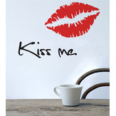 Third Generation Wall Decal Waterproof Removable Kiss Me Wall Stickers Home Wall Window Decor